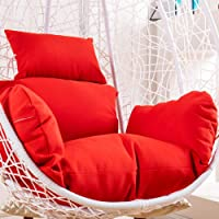 N/Z Hanging Egg Chair Pads Swing Hanging Basket Seat Cushion Thicken Hanging Egg Hammock Chair Pads Hanging Basket Chair Cushions Removable and Washable Soft Hanging Polyester Swing Mat