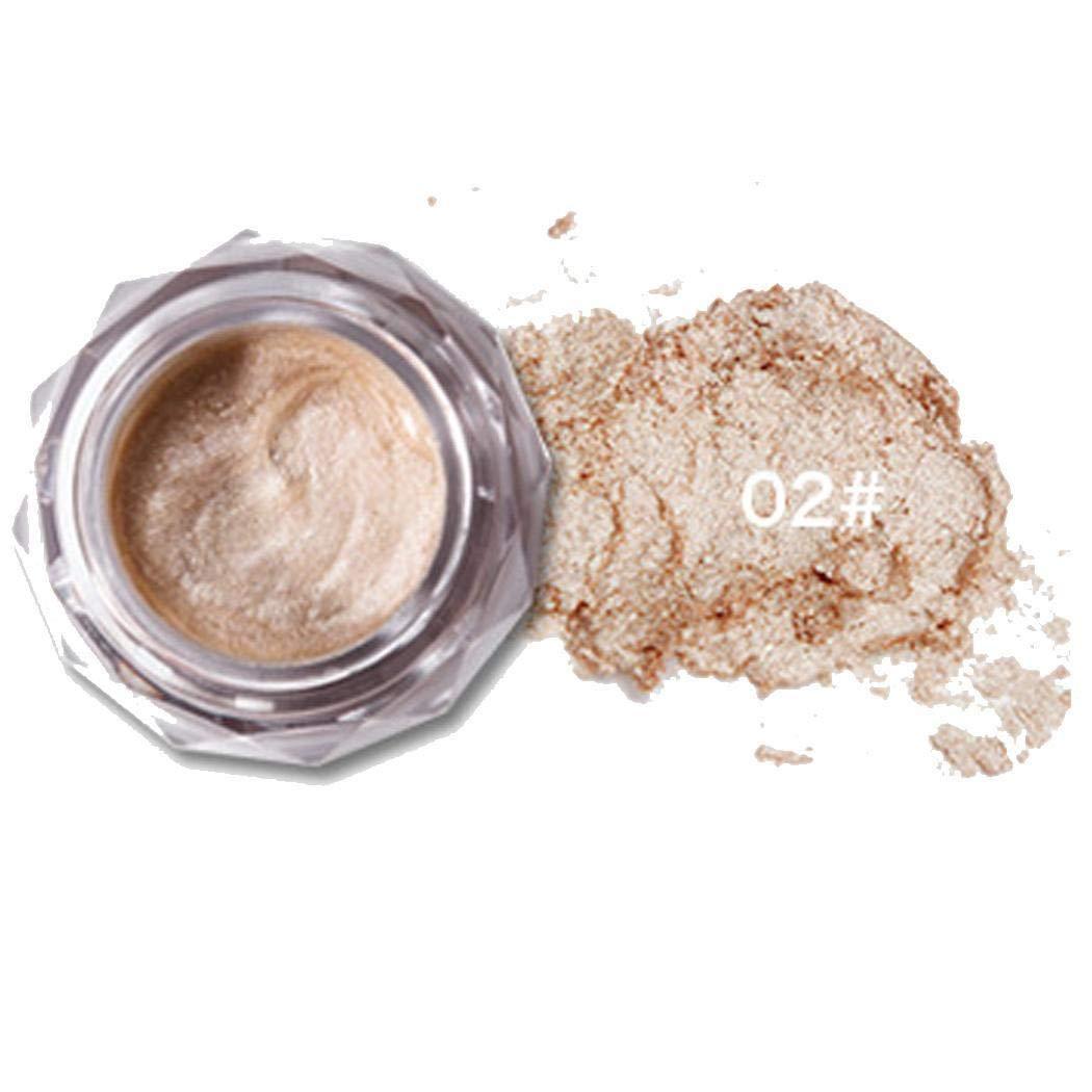 Fashine Waterproof Long Lasting Monochrome Glitter Eyeshadow Cream Eye Makeup Eyeshadow