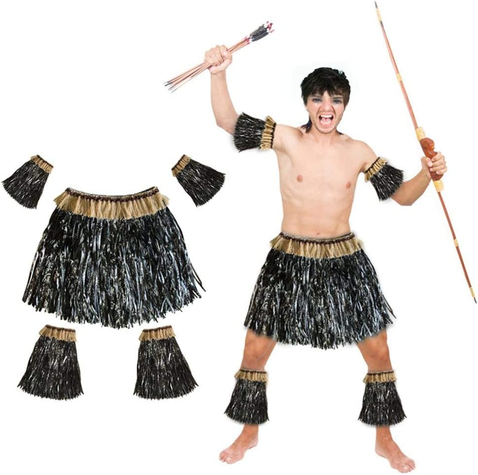 Seasaleshop Hawaiian Hula Dancer Disfraz de Falda de Hierba para ...