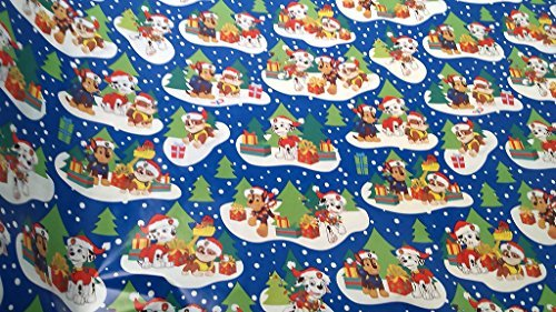 Christmas Wrapping Paw Patrol Badge Rocky Zuma Skye Rubble Marshall & Chase Holiday Paper Gift Greetings 1 Roll Design Festive Wrap Gifts