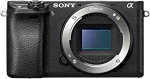 "Sony Alpha a6300 Mirrorless Camera: Interchangeable Lens Digital Camera with APS-C, Auto Focus & 4K Video - ILCE 6300 Body with 3"" LCD Screen - E Mount Compatible - Black (Includes Body Only)"