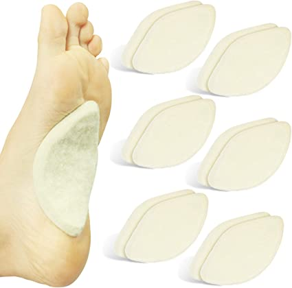 Reusable Arch Inserts for Plantar Fasciitis Shoe Insoles for Flat Feet 3 Colors Adhesive Arch Pad for Relieve Pressure and Feet Pain- 6 Pairs Gel Arch Support Cushions for Men /& Women