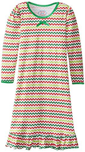 Saras Prints Puffed Sleeve Nightgown