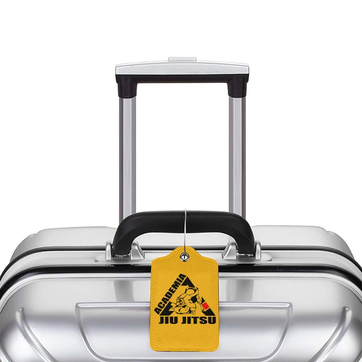 Luggage Tags Brazilian Jiu Jitsu Bjj With Full Back Privacy Cover With Round Steel Loops