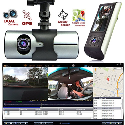 Indigi HD Dash-Cam Dual Camera Front+InCab Driving Recorder