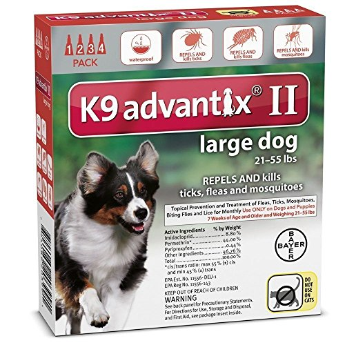 K9 ADVANTIX II FOR LARGE DOGS by K-9 Advantix Advantix Red Flea Treatment