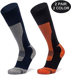 LORYLOLY 2 Paar Skisocken für Herren Damen Jungen Mädchen, Unisex DracheThermal Winter Kalb Socken für Erwachsene Kinder, Dicke Warme Kniehoch Schneesocken für Skifahren Skaten Snowboard YUNJIAN