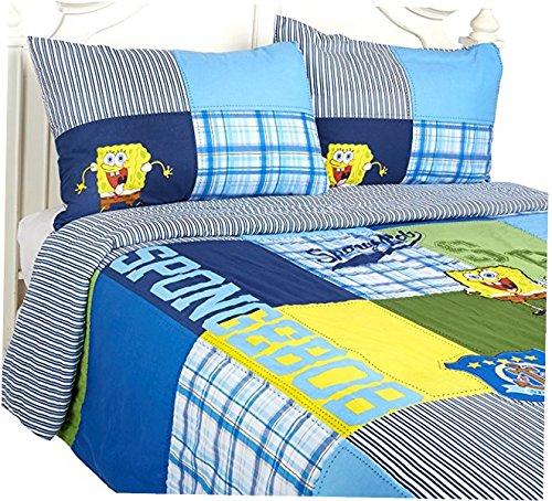 Nickelodeon SpongeBob Comforter Quilt Set, Full Queen Size 3 - Sheets Spongebob