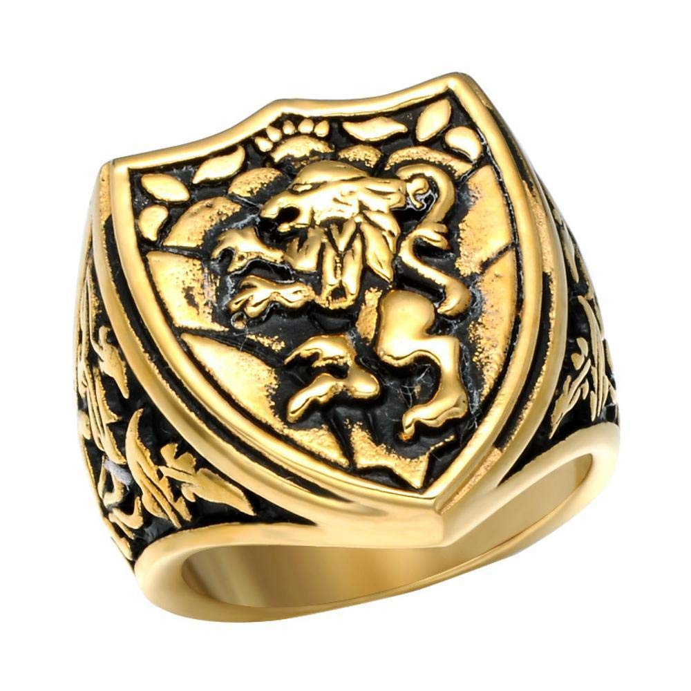 Dixinla Rings Steel , European and American Fashion Domineering Animal Lion Head Men Titanium Steel Ring Jewelry Gift for Family or Friends by Dixinla (Image #4)