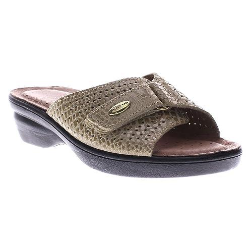 2147107c26a0 Flexus Women s Carrie Leather Slide Sandal  Amazon.ca  Shoes   Handbags