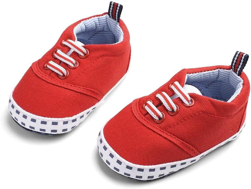ZOREFINE ♥ Baby Boy Girl Zapatillas de Lona para niños pequeños Primeros Zapatos Antideslizantes Candy (0-18 Meses)