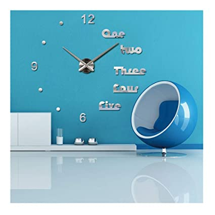 Alrens(TM Luxury Large Modern Acrylic Quartz Wall Clock Mirror Effect DIY Clocks Reloj De