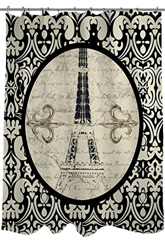 Manual Woodworkers & Weavers Shower Curtain, Paris Damask Eiffel Tower