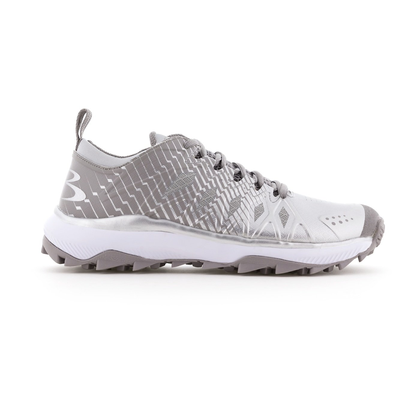 Boombah Men's Squadron Turf Gray/Silver - Size 13