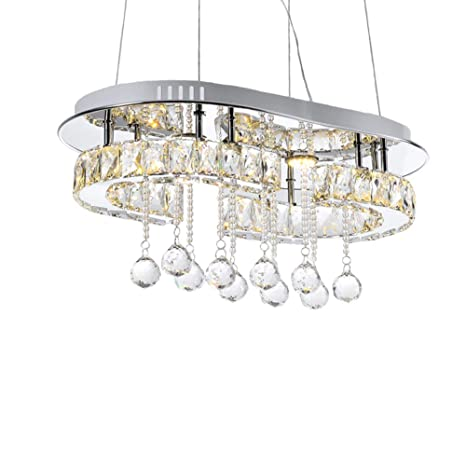 Lámpara colgante cristal LED regulable Techo bombilla ...