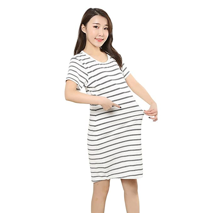 5557d3a11 SamMoSon 2019 Camiseta Lactancia Manga Corta Jersey Mujer Sudadera Camison  Mujer