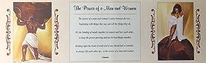 Power of Man and Woman - WAK & Shahidah 8x20 Unframed - African American Black Art Print Wall Decor Poster #USB8 us3053c