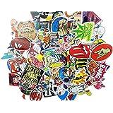 (Pack of 200) Random Music Film Vinyl Skateboard Guitar Travel Case Sticker Lot Pack Decals