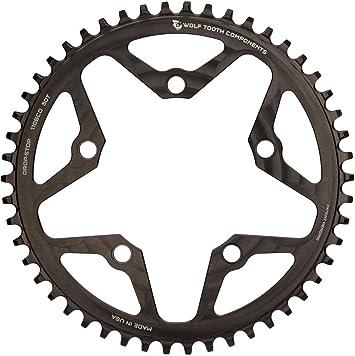 Wolf Tooth 110BCD Plato Bicicleta, Negro, 44: Amazon.es: Deportes ...