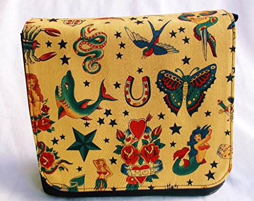New Tatto Beige Messenger Bag By Gifts and Beads by Gifts and Beads