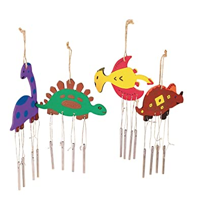 Dino Wind Chimes Craft Kit: Industrial & Scientific