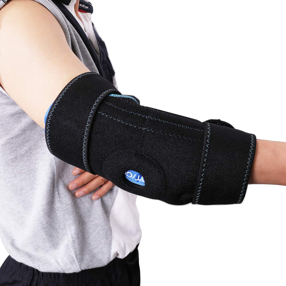 Gel Pack with Elbow Support Wrap for Cold Hot Therapy by LotFancy - Reusable Hot Cold Ice Pack for Injuries, Sprained Elbows, Tendonitis, Arthritis, and Other Sports Injuries