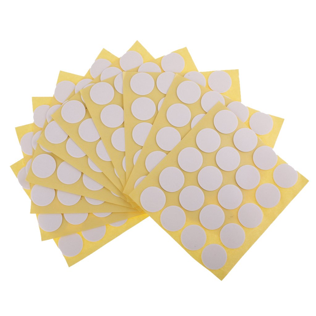 Homyl 200 Pieces Candle Wick Sticker Double-sided Sticky Dots for DIY Candle Making 20mm