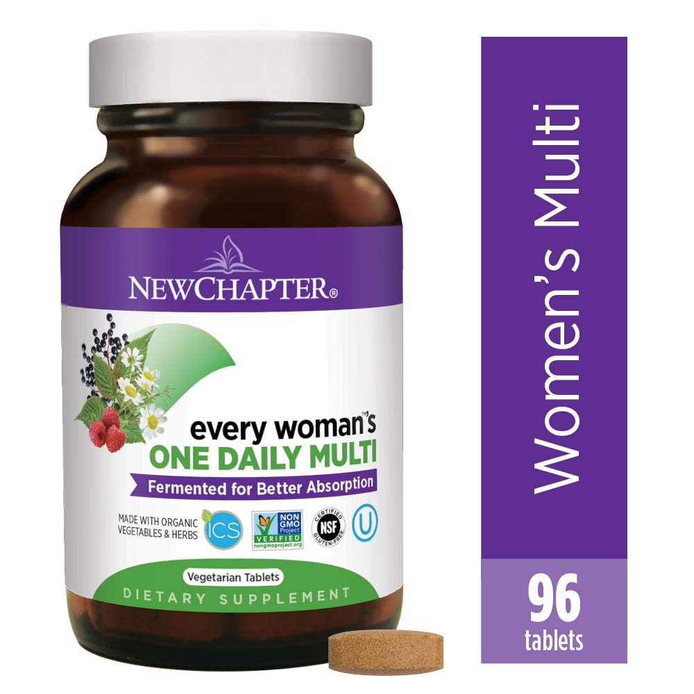 New Chapter Women's Multivitamin, Every Woman's One Daily, Fermented with Probiotics + Iron + B Vitamins + Vitamin D3 + Organic Non-GMO Ingredients - 96 ct (Packaging May Vary) by New Chapter