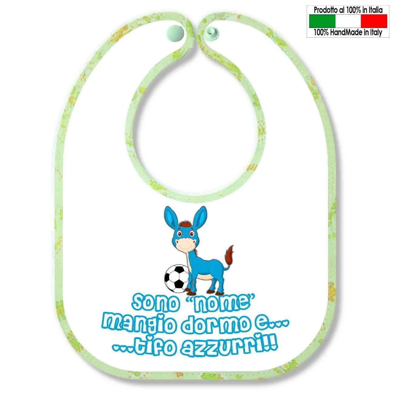Babero personalizable con diseño de futbolín de Nápoles Sono. Tífo ...