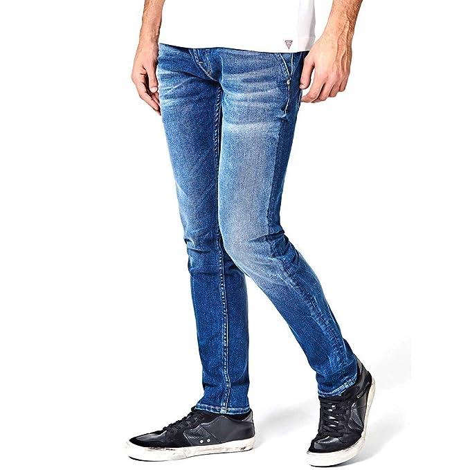 vendita a basso prezzo alta moda bene fuori x Guess Jeans Pantaloni Uomo Tasca America Super Skinny Pants Boy ...