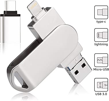 Flash Drive for iPhone Photo Stick Encryption External USB Drive MacBook Android