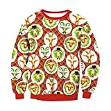 IEason Women top Lovers Fashion Christmas 3D Print Party Long Sleeves Top Sweatshirt