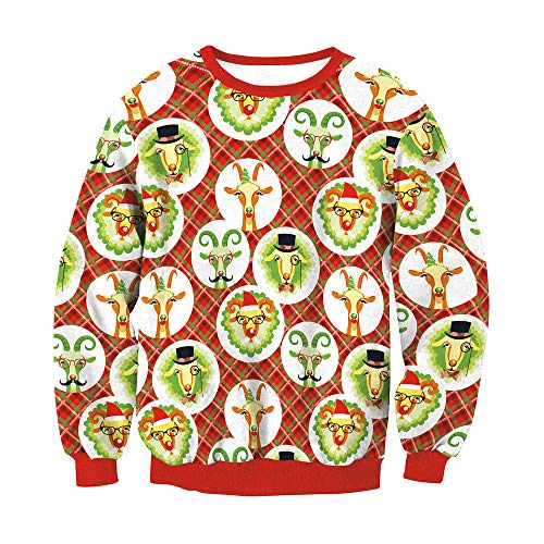 IEason Women top Lovers Fashion Christmas 3D Print Party Long Sleeves Top Sweatshirt by IEason Women top