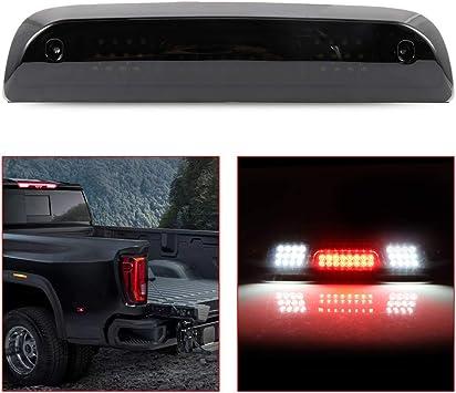 OCPTY High Mount Brake Light LED 3rd Light Smoke Lens Rear Roof Light Replacement fit for 2014-2018 GMC Sierra 1500 Chevy Silverado 1500 2015-2018 GMC Sierra 2500HD 3500HD Chevy Silverado 2500HD