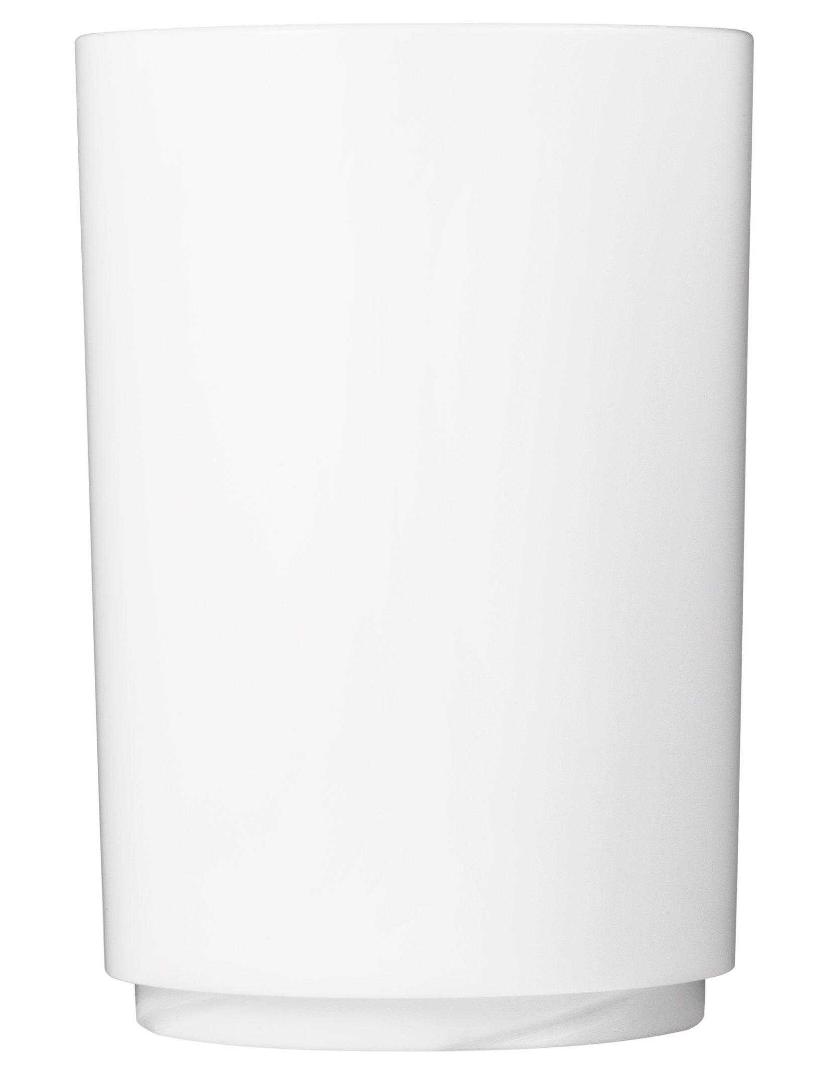 Drinique Elite Pint 16 oz. Tumbler   Case of 24 White   Unbreakable BPA-free Premium Tritan Plastic Drinking Glasses