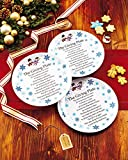 Melamine Giving Plates with Painted Snowmen Trim