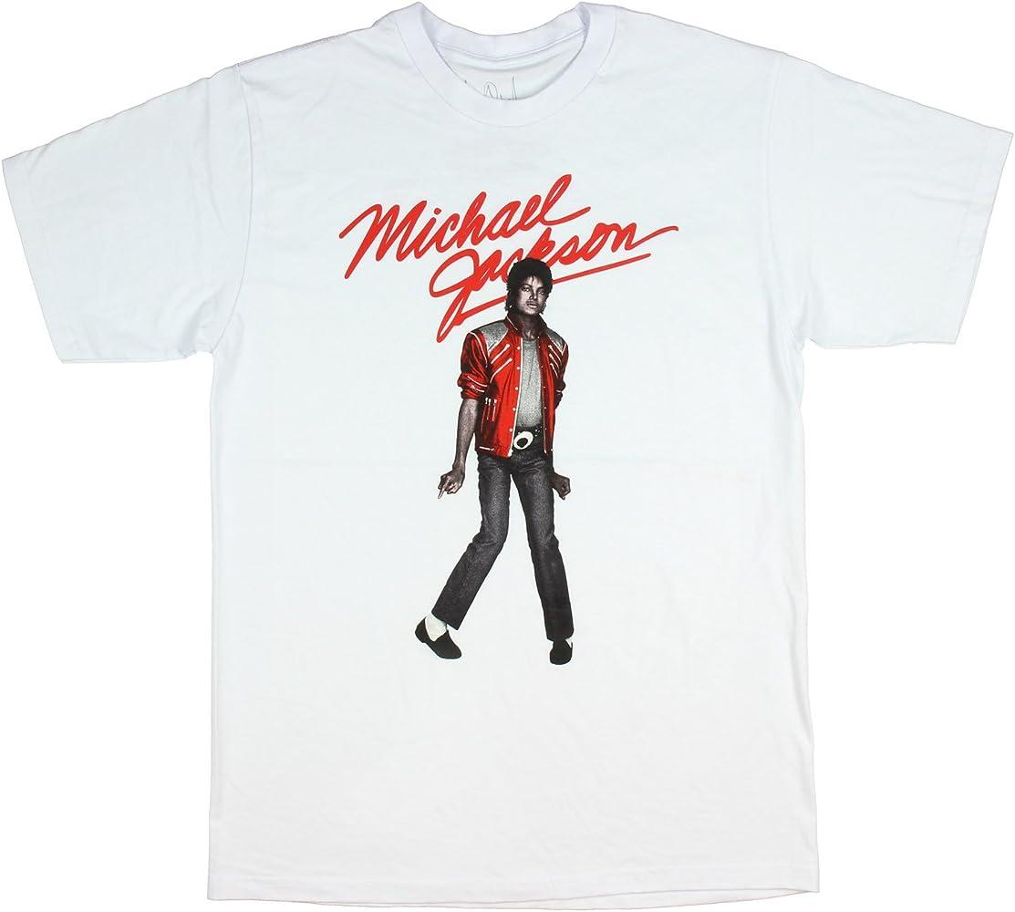 Camiseta Michael Jackson Beat It King Of Pop Pose para hombre - Blanco - Medium: Amazon.es: Ropa y accesorios