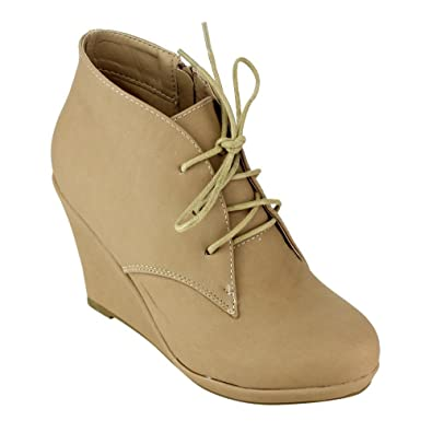 Amazon.com: Bella Marie mirah-1 Mujer Classic Lace Up Side ...