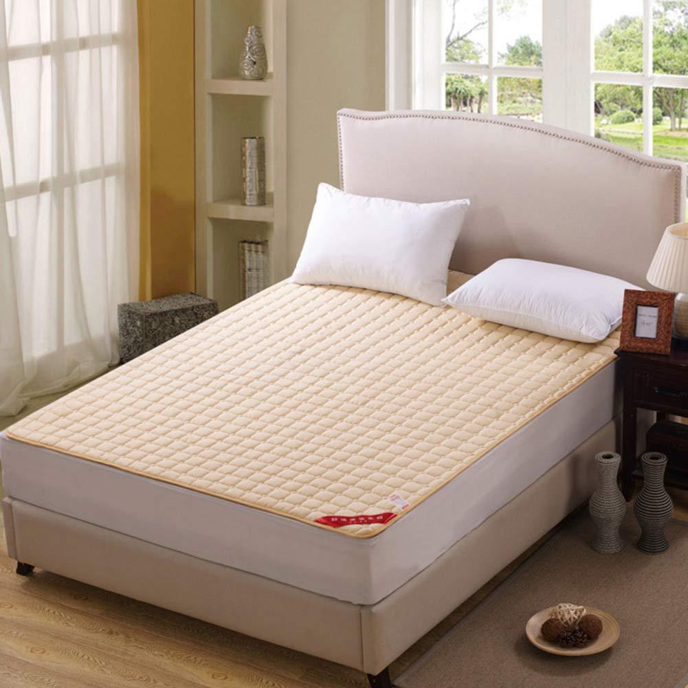Light tan 150x200cm(59x79inch) WYMNAME Ultra-Thin Washable futon Mattress Topper, Foldable roll up Mattress Sleeping pad for Camping-Purple 150x200cm(59x79inch)