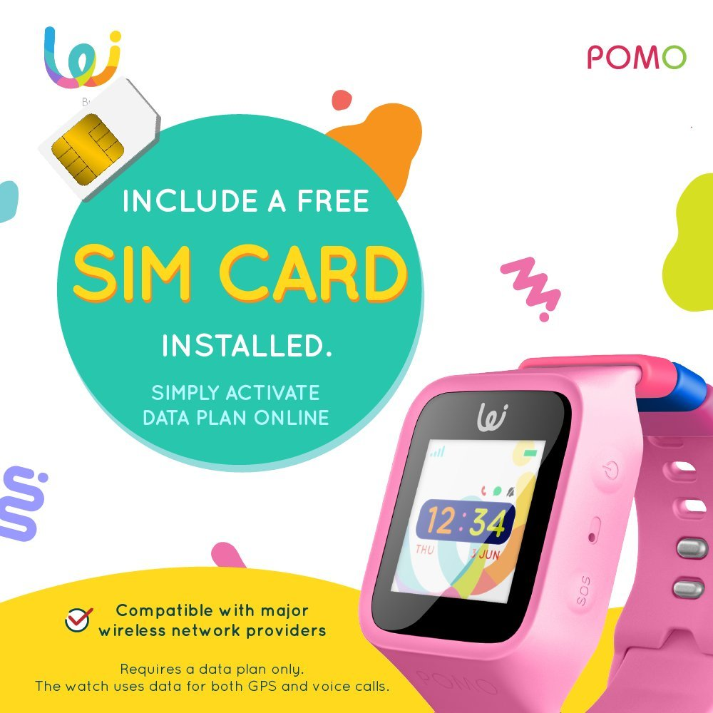 POMO Waffle Smart Watch GPS Locator for Kids (Pink) with SOS ...