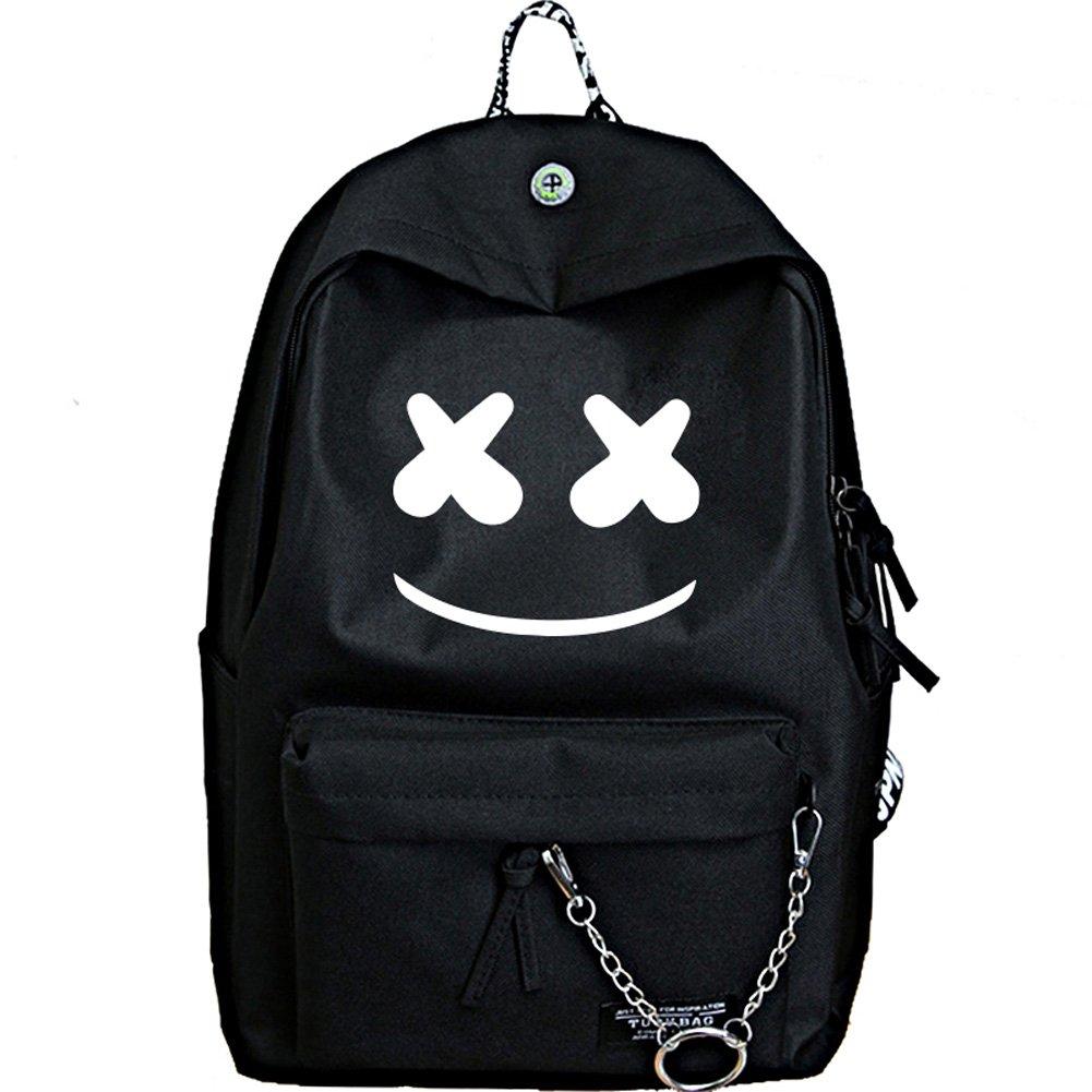 c9bf3eec5c0 YOURNELO Boy's Girl's New Fashion DJ Marshmello Alan Walker Rucksack  Backpack Bookbag