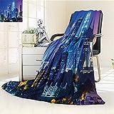 AmaPark Digital Printing Blanket Scenery with Kuala Lumpur India Skyscrapers Print Summer Quilt Comforter