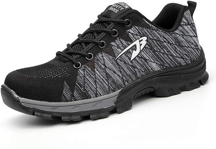 Ali-tone Mujer Hombre Zapatillas de Seguridad Deportivos con Puntera de Acero Zapatos de Trabajo Entrenador Unisex Zapatillas de: Amazon.es: Zapatos y complementos