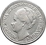 1928 Netherlands Queen WILHELMINA 28 Cents Wreath Authentic AR Coin i49120