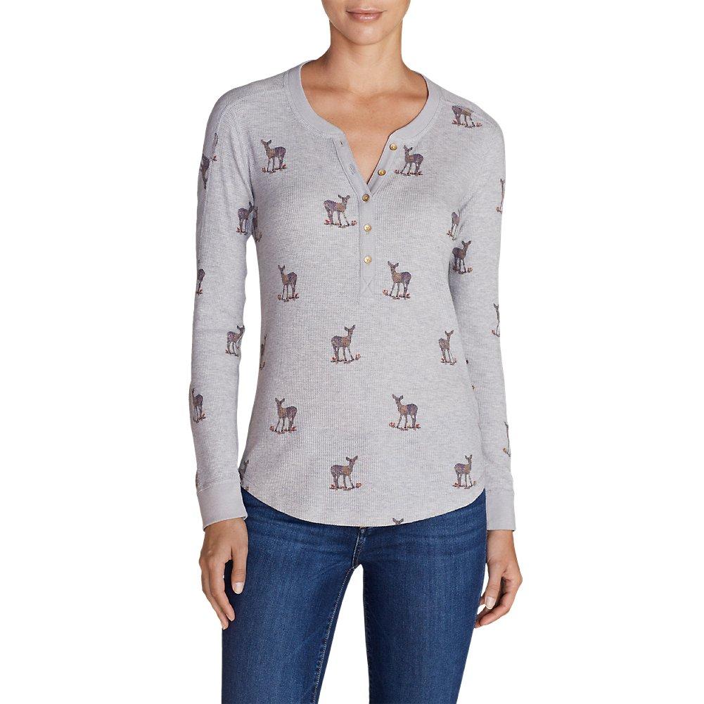Eddie Bauer Women's Ilaria Woodsie Henley Shirt, Htr Gray L