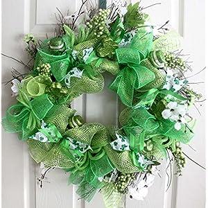 St Patrick day wreath, Spring wreath, St patrick decor,wreath for front door, wreathe 18