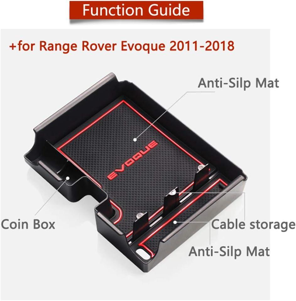 Fangfeen Di Ricambio per Range Rover Evoque 2012-2018 Monete Center Console Portafoglio Bagagli Box bracciolo Sundries Organizer Tray