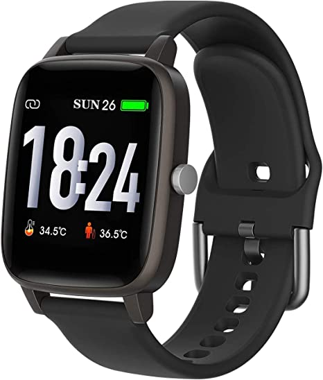 Amazon Com Smart Watch Body Temperature Smartwatch Fitness Tracker With Heart Rate Blood Pressure Blood Oxygen Sleep Monitor Message Call Reminder Smart Watch For Men Women Kids Compatible For Iphone Android
