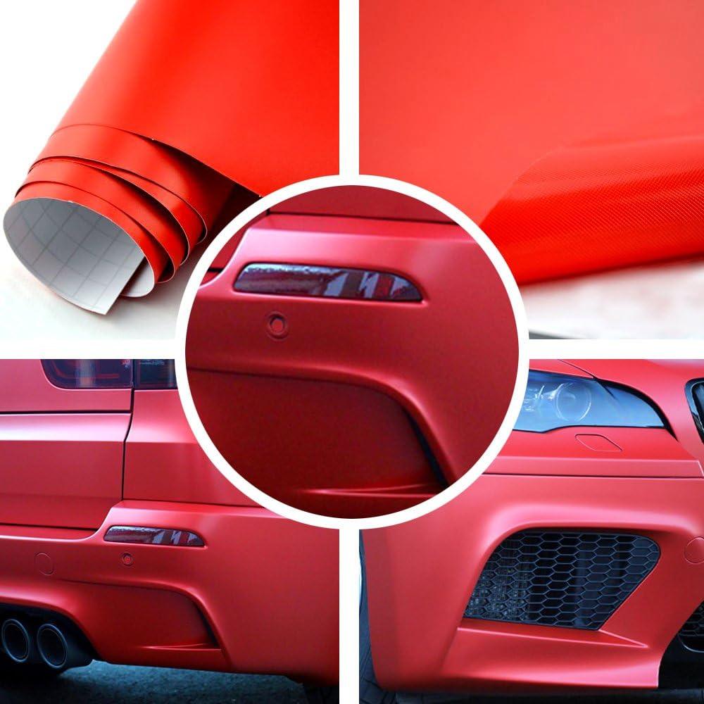 TipTopCarbon 8,55/€//m/² Glanz Hochglanz Rot 152cm breit Blasenfrei Autofolie selbsklebend mit Luftkan/äle 3D Flex Folie Auto