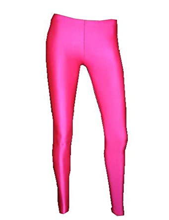 17b42da5b4a16 Amazon.com: Insanity Womens Neon UV Hot Pink Leggings: Clothing